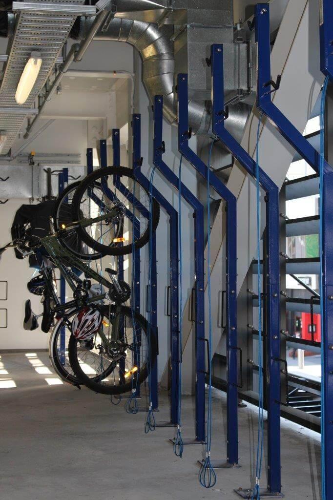 Securabike Vertical Floor Mounted 2 Bike Rack Bike